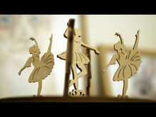 Load and play video in Gallery viewer, Dancing Ballerinas Music Box ~ Wooden Model/Puzzle Kit