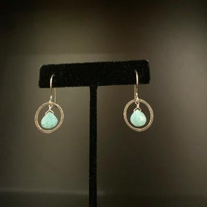 Orbit Faceted Amazonite Earrings