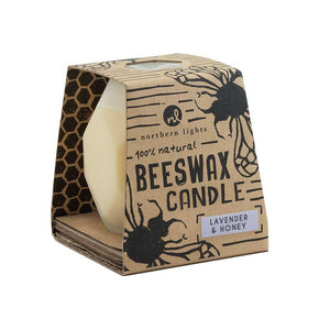 Beeswax Candle, Lavender & Honey
