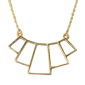 Deco, Geometric Gold Vermeil Necklace