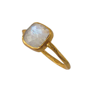 Gold Vermeil Ring with Moonstone