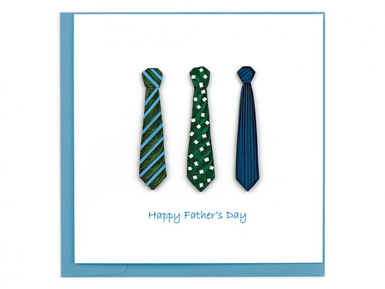 Father's Day Ties Quilled Card