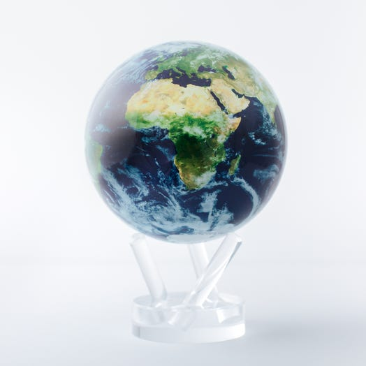 Perpetual Motion Earth Globe with Clouds