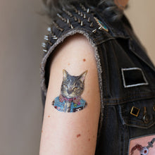 Load image into Gallery viewer, Punk Cat Temporary Tattoo