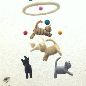 Mobile ~ Felted Cats