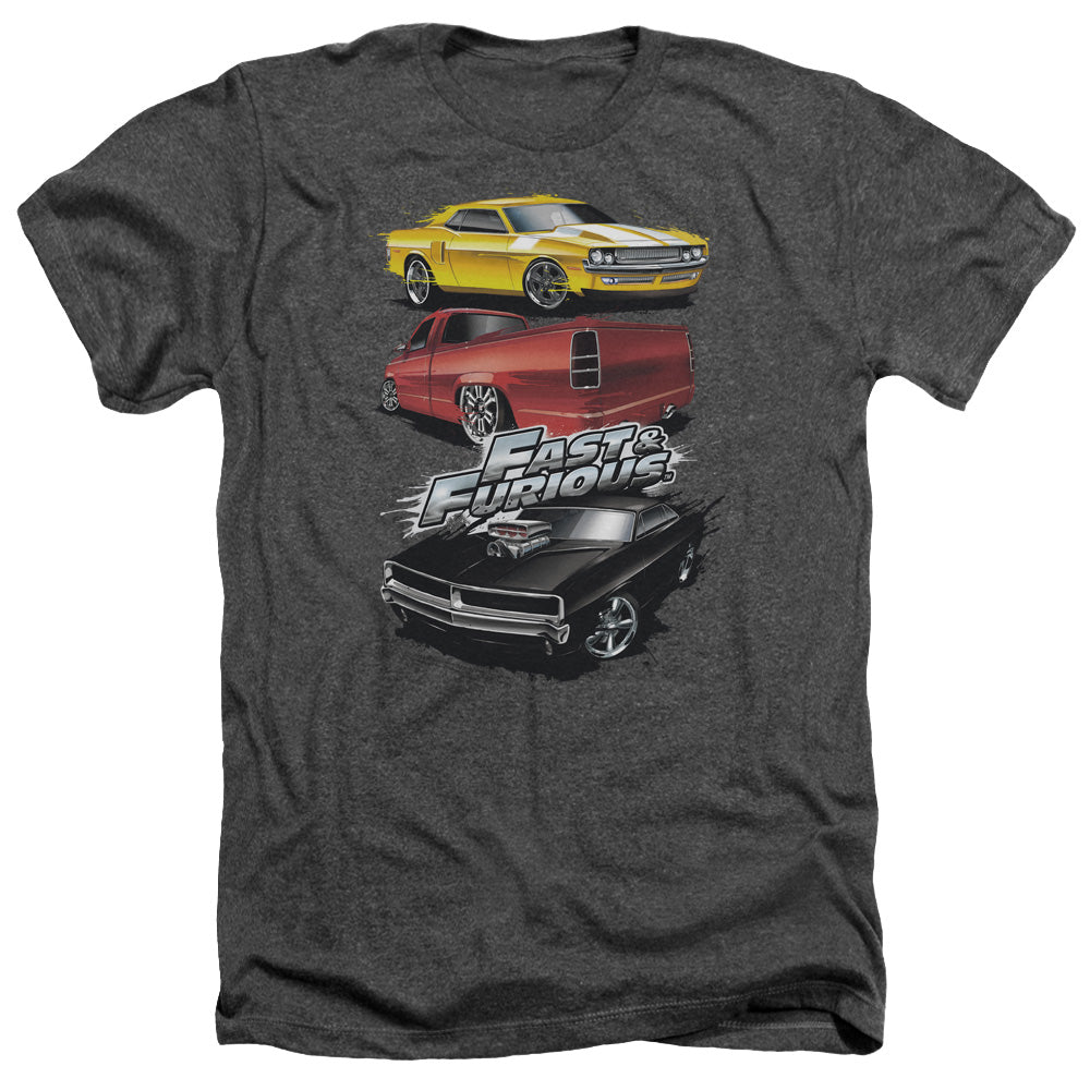 Fast And The Furious - Muscle Car Splatter Adult Heather