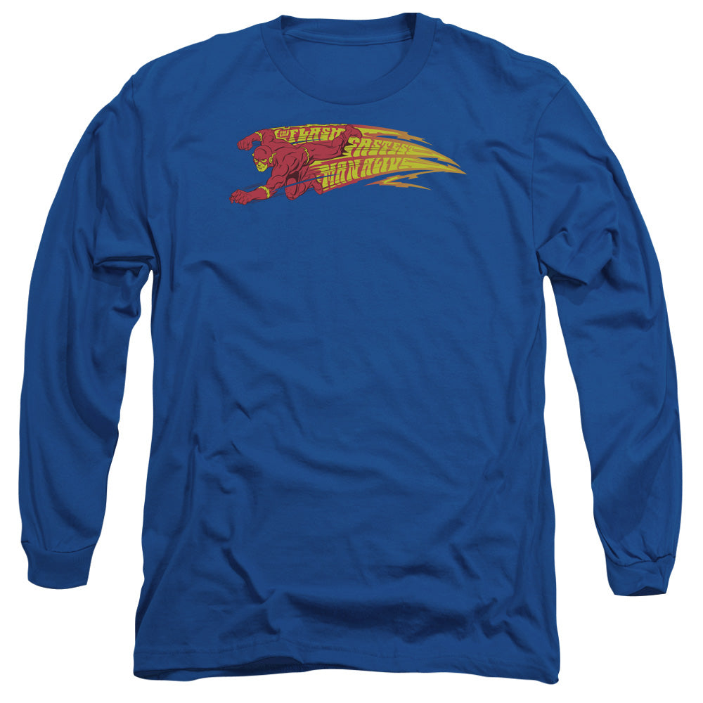 Dc - Fastest Man Alive Long Sleeve Adult 18/1