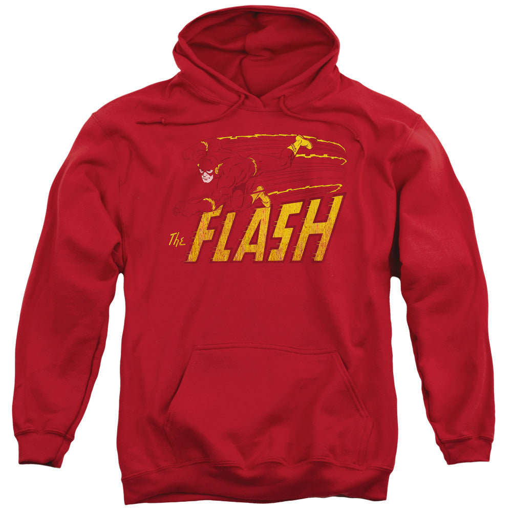 Dc - Flash Speed Distressed Adult Pull Over Hoodie
