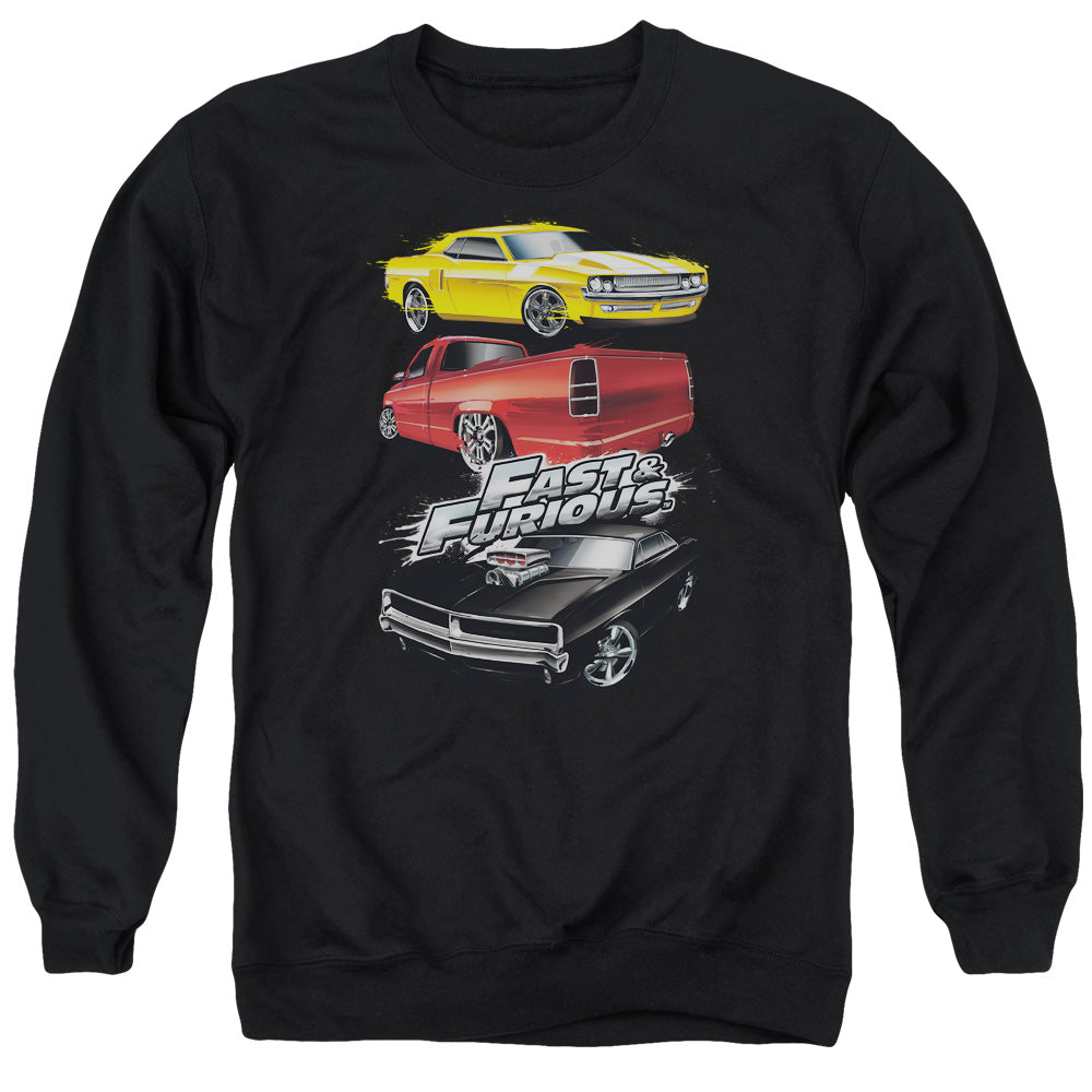 Fast And The Furious - Muscle Car Splatter Adult Crewneck Sweatshirt