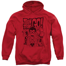 Load image into Gallery viewer, Teen Titans Go - Team Up Adult Pull Over Hoodie