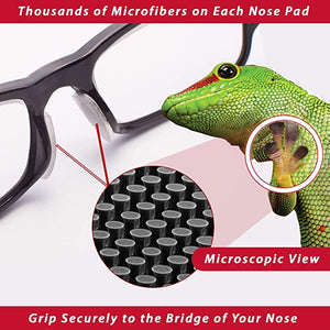 Setex GeckoGrip® - Black Eyewear Nose Pads with PSA Backing