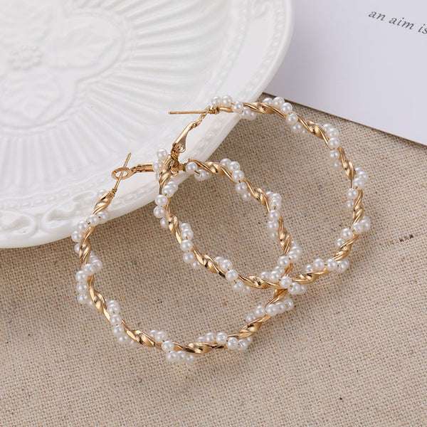 IPARAM Trend Simulation Pearl Long Earrings Female White Round Pearl Wedding Pendant Earrings Fashion Korean Jewelry Earrings