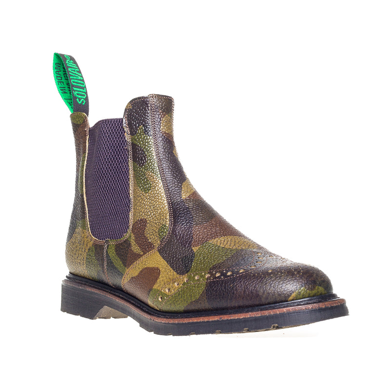 Solovair Camouflage Punched Dealer Boot
