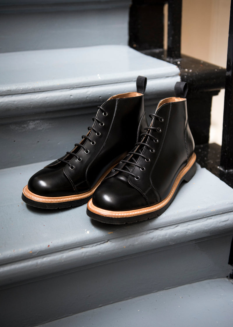 Solovair Black Monkey Boot