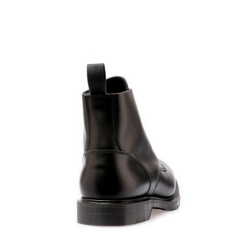 Solovair 6 Eye Black Derby Boot