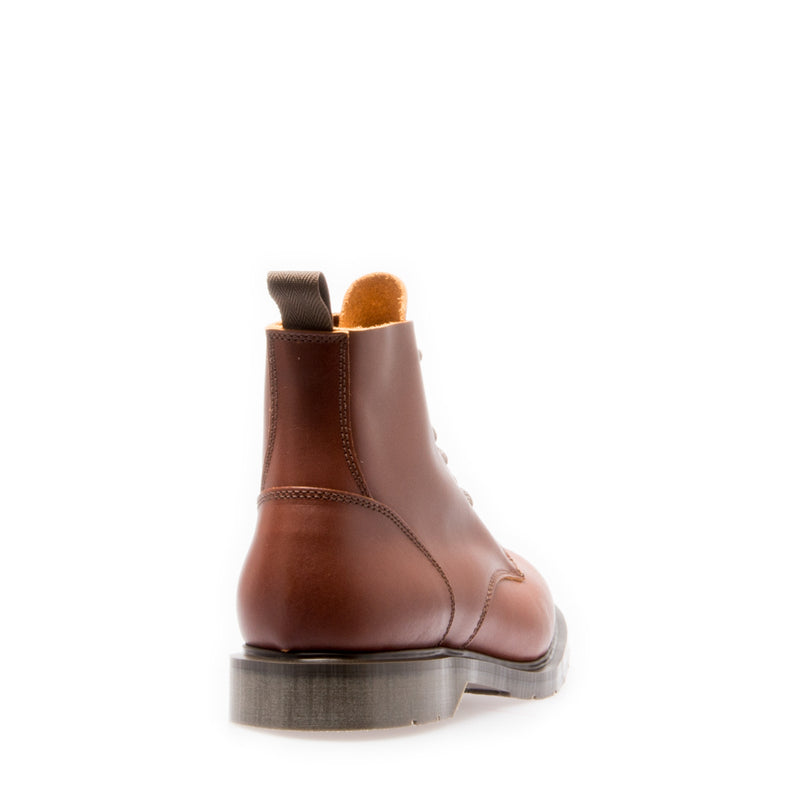 Solovair 6 Eye Chestnut Derby Boot