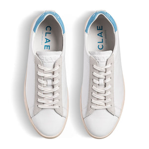 Clae Bradley White Milled Leather Blue