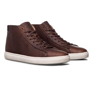 Clae Bradley Mid Cocoa Leather