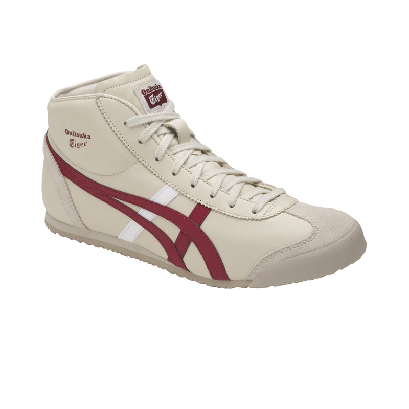 Onitsuka Tiger Mexico Mid Runner Birch-Burgundy