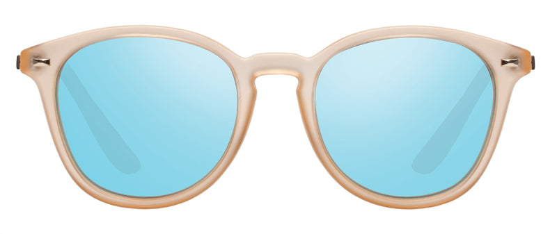 Le Specs Bandwagon | Raw Sugar Ice Blue Mirror