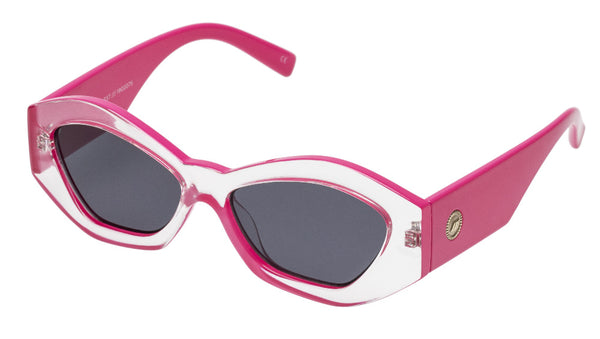 Le Specs The Ginchiest | Clear Hot Pink