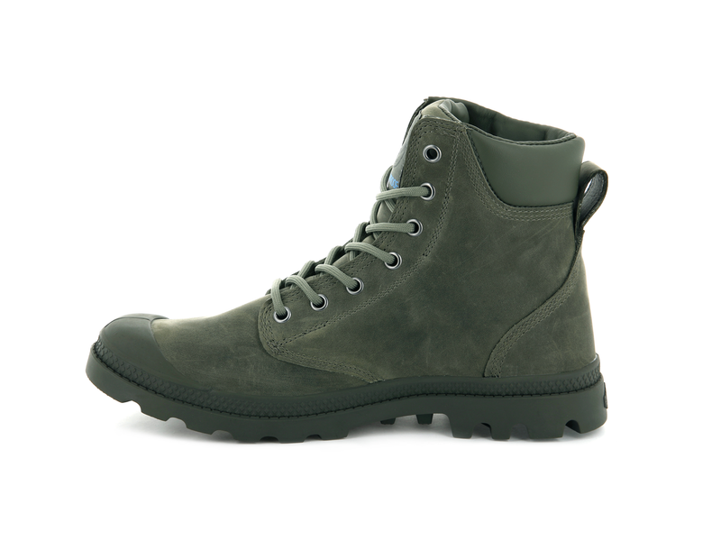 Palladium Pampa Cuff WP Lux Vetiver - Olive Night