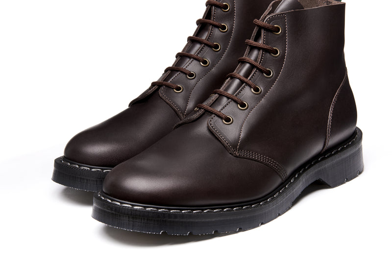 Solovair Brown Greasy 6 Eye Astronaut Boot