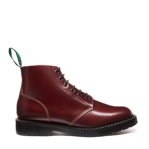 Solovair Oxblood Hi-Shine 6 Eye Astronaut Boot