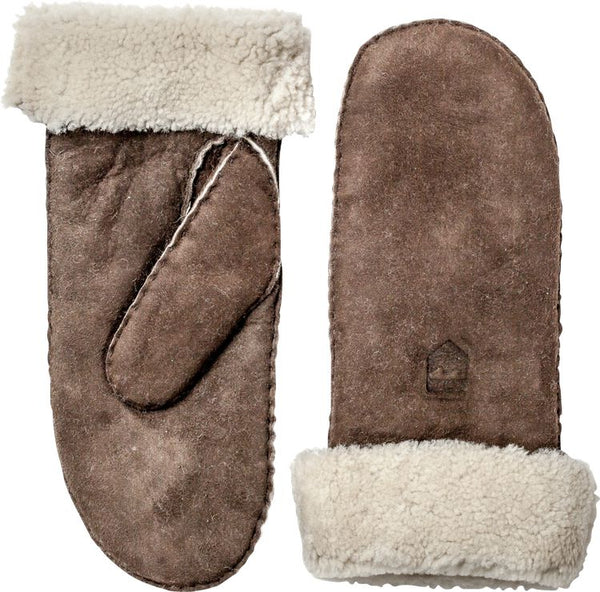 Hestra Sheepskin Mitt Brown