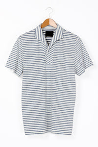 "Bowler Berlin Terry Shirt ""Play"" Bretoniere Off-White-Marine"