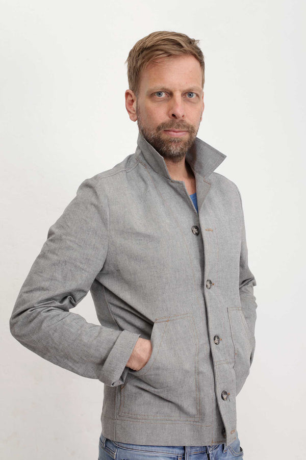 "Director´s Cut ""Patrick""  Jacke Blue-Greydirectors-cut-jacke-baker-jacket-grey-blue"