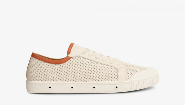 Spring Court G2 Punch Nappa Leather Off White Brown