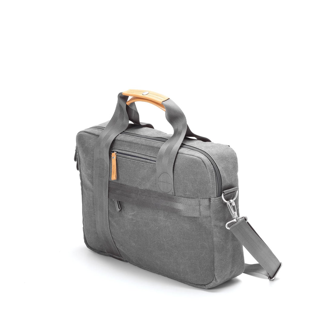 QWSTION Office Bag Organic Washed Grey