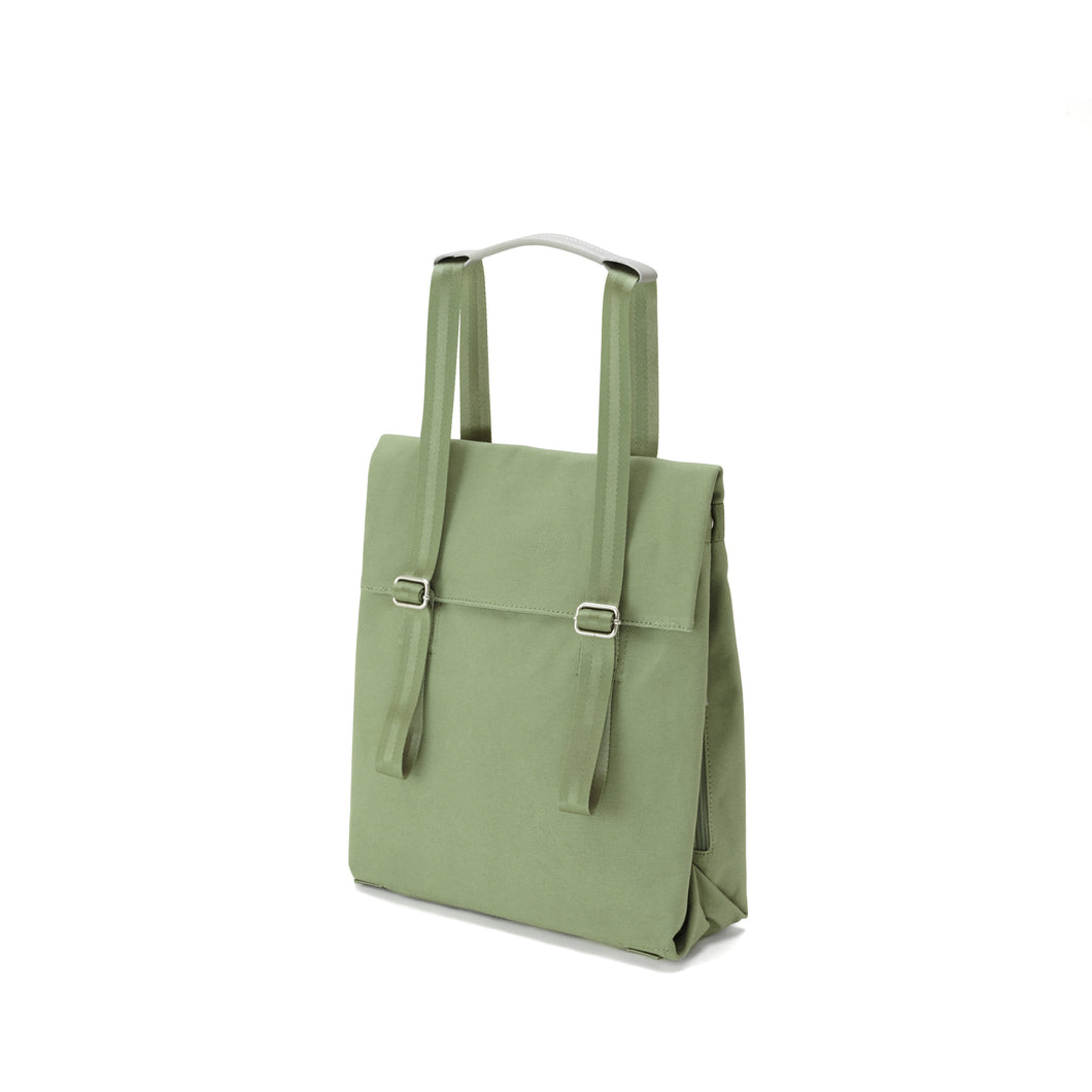 QWSTION Small Tote Organic Moss