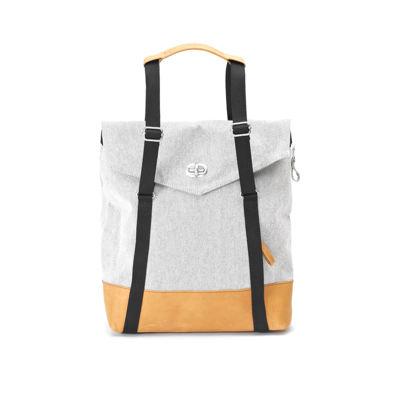 QWSTION Tote Raw Blend Leather Canvas