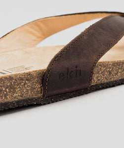 Ekn Sandal Brown Leather