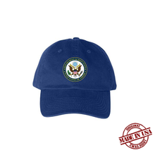 Load image into Gallery viewer, Department of Deep State Hat (Blue, Red, White)