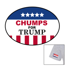 Load image into Gallery viewer, Chumps for Trump T-Shirt (Grey, White)