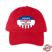 Load image into Gallery viewer, Chumps for Trump Hat (Blue, Red, White)