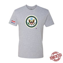 Load image into Gallery viewer, Department of Deep State Shirt (Grey, White)