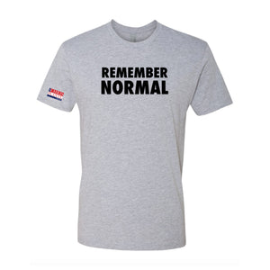Remember Normal T-Shirt (Grey, White)