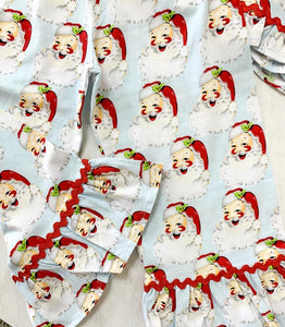 Girly Vintage Santa PJs