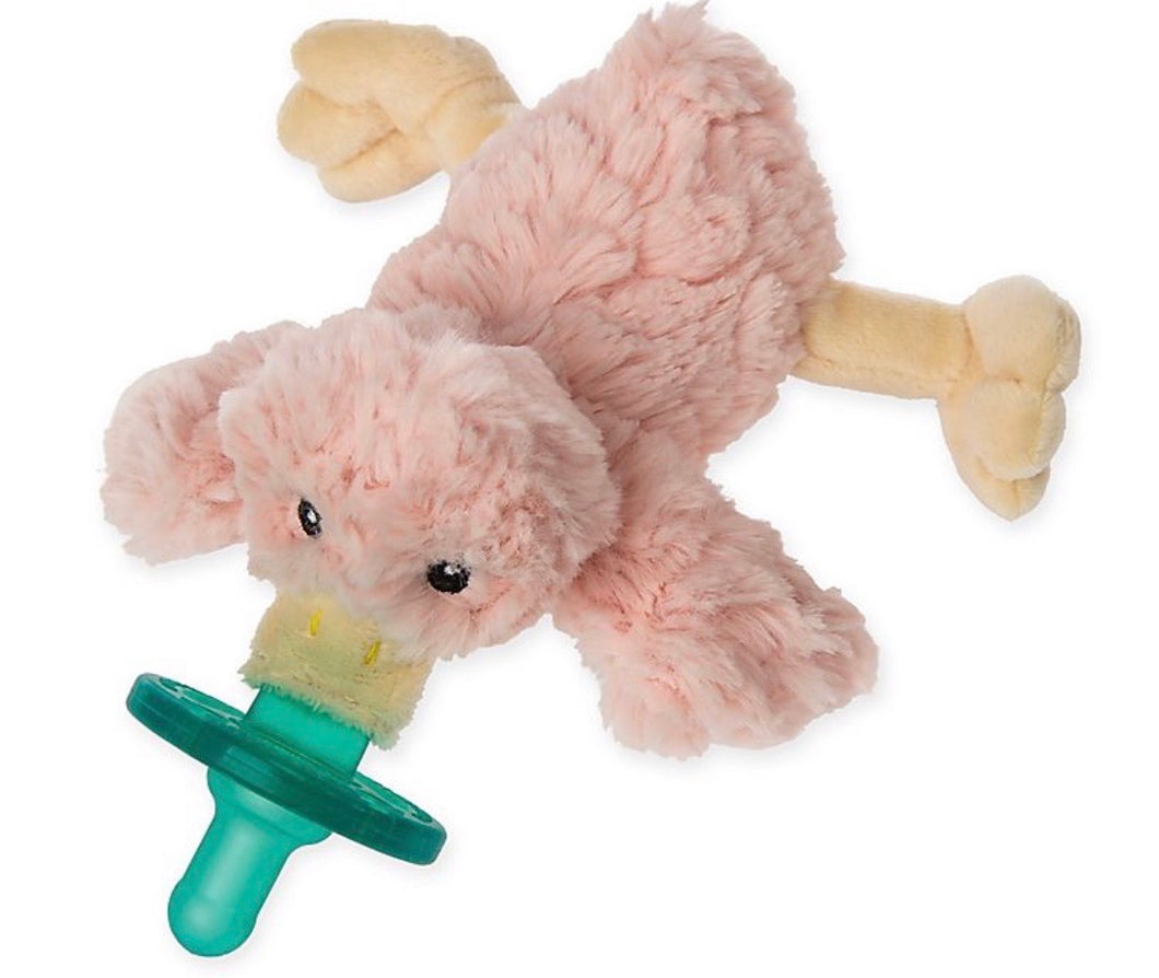 Pink Furry Duck WubbaNub Pacifier