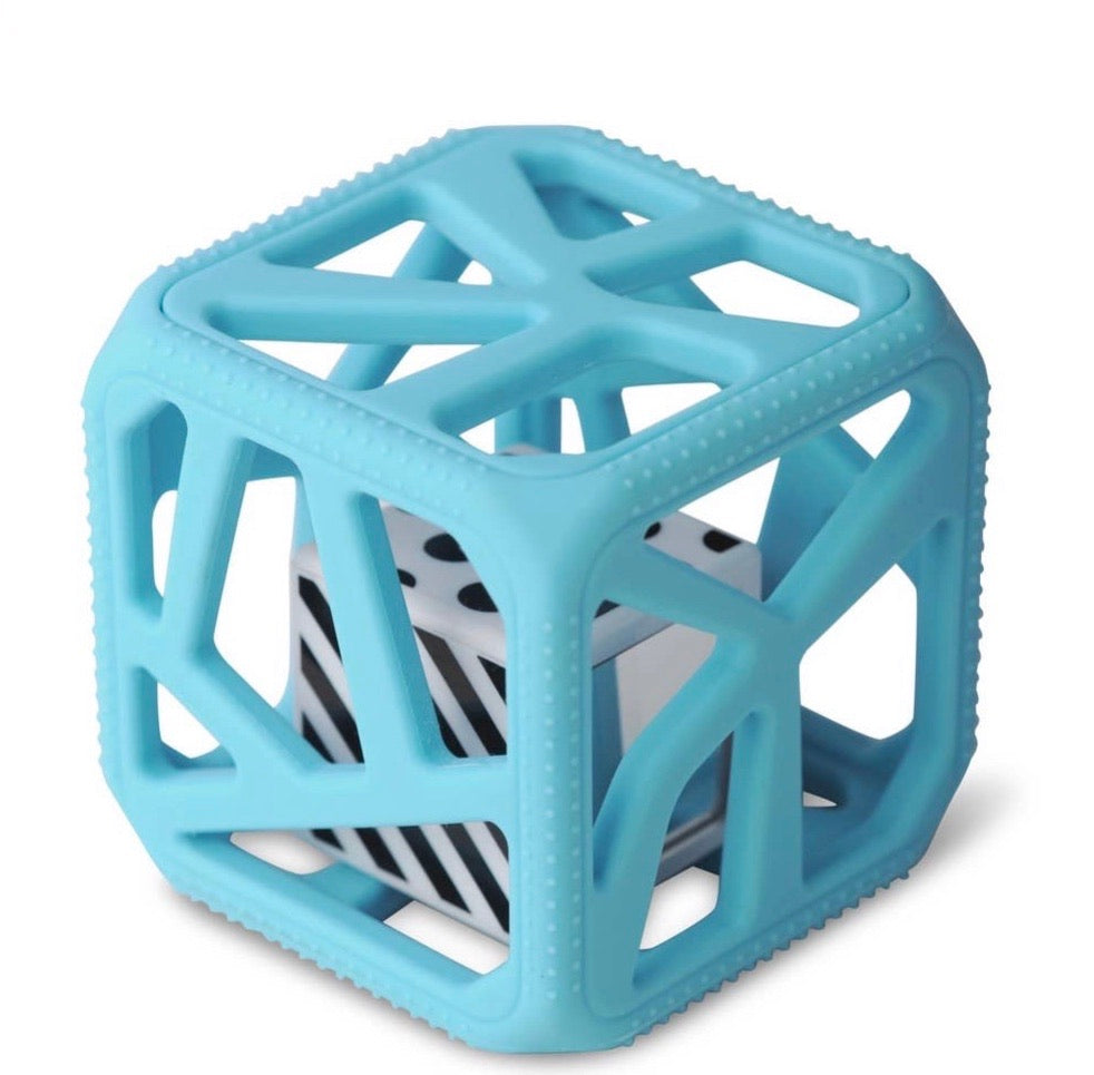 Blue Chew Cube Teether Toy