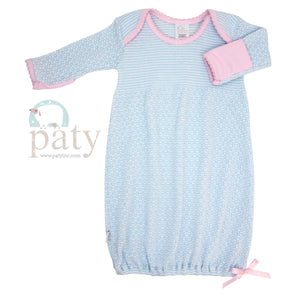Blue Pink Paty Gown