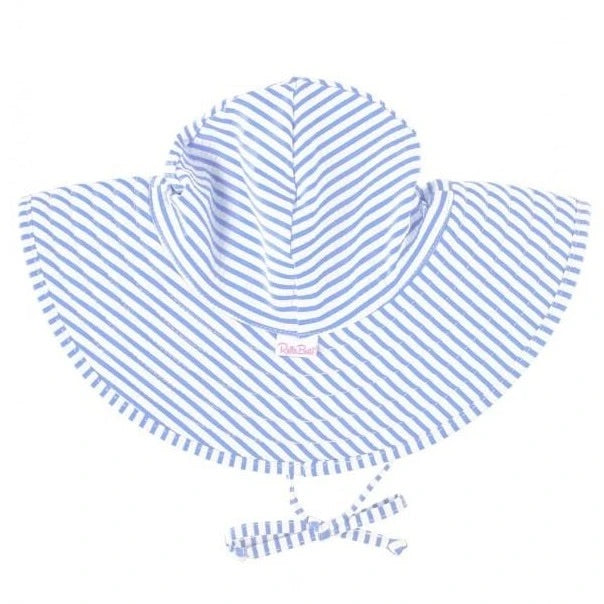 Rufflebutts Periwinkle Blue Seersucker Swim Hat