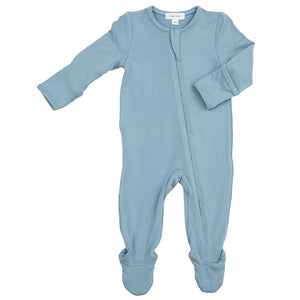 Dusty Blue Solid Footie