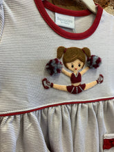 Load image into Gallery viewer, Gray + Maroon Cheerleader Squiggles