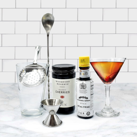 Complete Manhattan Cocktail Kit  (7 pieces) - Your Home Bar