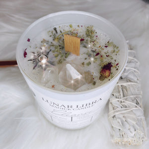 Cleanse Candle - Lunar Libra-glass candle